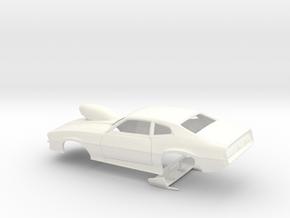 1/43 Pro Mod Maverick W Sm Cowl Scoop in White Processed Versatile Plastic