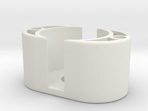 Spare Battery Holder in White Natural Versatile Plastic
