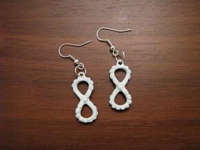 Battle for Infinity earrings in Polished Bronzed Silver Steel
