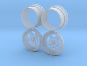 Weld ProStar 1/25 Rear Bead Locks in Smooth Fine Detail Plastic