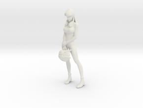1/[6, 10, 12] Detailed Misa Hayase in Hot Suit in White Natural Versatile Plastic: 1:12