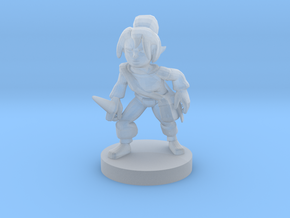Halfling Female Rogue in Smooth Fine Detail Plastic