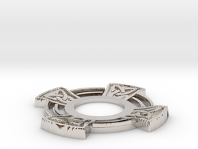 Pickup Selector Plate - Celtic Cross in Rhodium Plated Brass