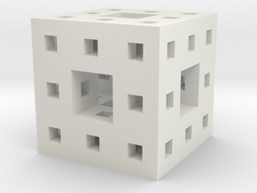 "1"" menger sponge in White Natural Versatile Plastic"