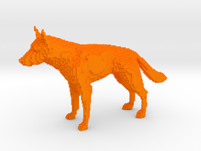 SQULP® Lego Sculpture German Shepherd in Orange Processed Versatile Plastic