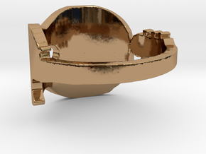 Guitar 2 Ring  in Polished Brass