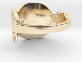 Guitar 2 Ring  in 14k Gold Plated Brass