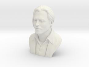 3D Sculpture of Johnny Depp in White Natural Versatile Plastic
