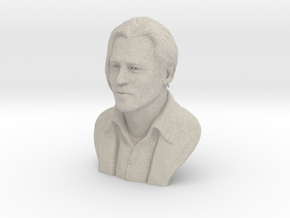 3D Sculpture of Johnny Depp in Natural Sandstone