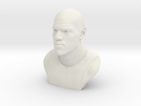 3D Sculpture of LeBron James in White Natural Versatile Plastic
