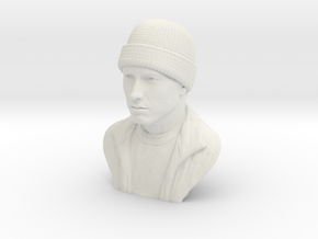 3D Sculpture of Eminem in White Natural Versatile Plastic