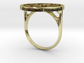 Ring Of Rassilon (US size 6) in 18k Gold Plated Brass