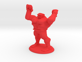 Huge Mutant Rage Zombie in Red Processed Versatile Plastic