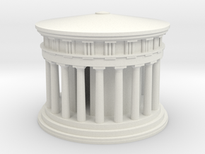 Athena Temple in Delphi in White Natural Versatile Plastic: Medium