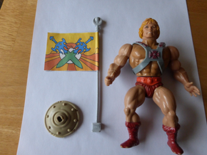 Replacement flag pole for 1980s Castle Grayskull,  in Polished Metallic Plastic