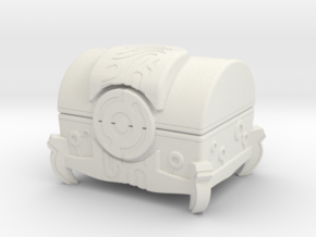 """BotW"" Sheikah Metal Treasure Chest in White Natural Versatile Plastic: 1:12"