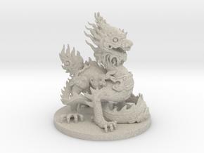 Imperial dragon in Natural Sandstone