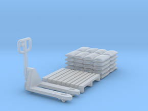 Pallet jack 01. 1:64 Scale  in Smooth Fine Detail Plastic