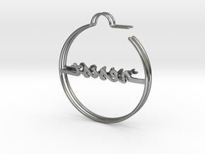 Resist Hoop Earrings in Rose Gold, Gold & Silver in Polished Silver