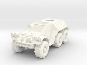 28mm 6x6 Taman recon car (without turret) in White Processed Versatile Plastic
