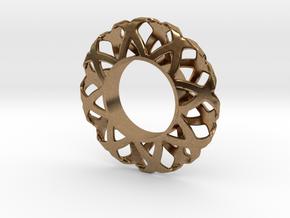 Fidget Spinner Simplest Wire 1 in Natural Brass