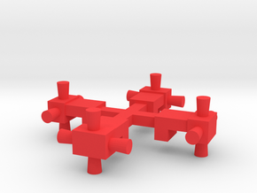 Reproduction Dinky Eagle Attitude Side Thrusters in Red Processed Versatile Plastic