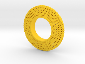Fidget Spinner Honey Wire in Yellow Processed Versatile Plastic