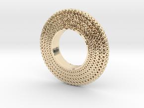 Fidget Spinner Honey Wire in 14k Gold Plated Brass