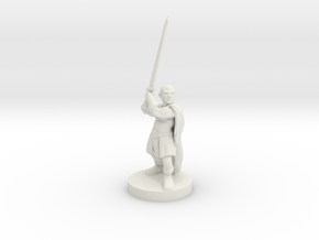 Halfling Barbarian in White Natural Versatile Plastic
