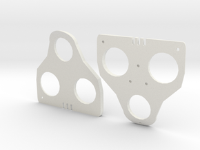 3° Wedges for SPD-SL and Keo in White Natural Versatile Plastic