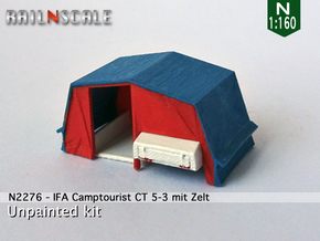 IFA Camptourist CT 5-3 mit Zelt (N 1:160) in Smooth Fine Detail Plastic