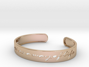 Safari as a Way of Life Bangle in 14k Rose Gold Plated Brass