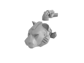 Iron Tiger - Head in Smooth Fine Detail Plastic