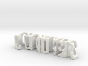 3dWordFlip: conifer/Colorado in White Natural Versatile Plastic
