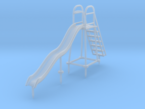 Children's Wave Slide, S Scale (1:64) in Smooth Fine Detail Plastic