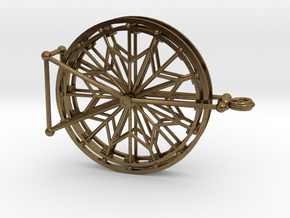 Rotating Ferris Wheel Star Keepsake Charm in Natural Bronze (Interlocking Parts)