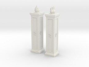 Dwarf Torches XL in White Natural Versatile Plastic