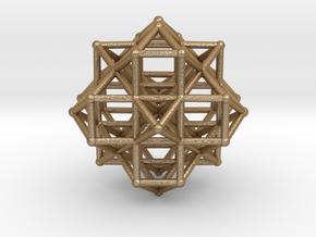 Vector Equilibrium Cluster 8VE 7Octa 50mm  in Matte Gold Steel
