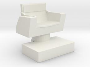 Captain's Chair (Star Trek Classic), 1/30 in White Natural Versatile Plastic