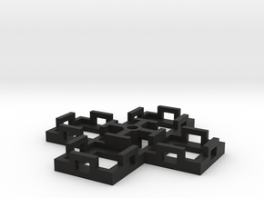 Flight Stand - 4 Dice in Black Natural Versatile Plastic