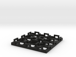 Flight Stand - 8 Dice (square) in Black Natural Versatile Plastic
