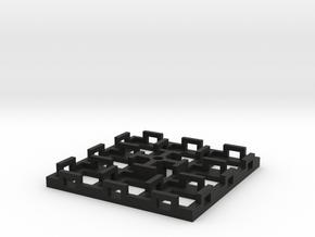 Flight Stand - 8 Dice (square) in Black Natural Versatile Plastic