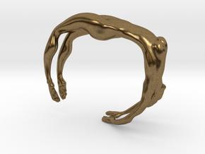 Female figure bracelet in Natural Bronze