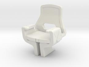 Captain's Chair, Vengeance (Star Trek Into Daarkne in White Natural Versatile Plastic