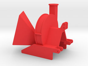Hacker 1/3 in Red Processed Versatile Plastic