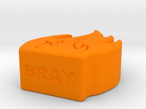 Fire Game Piece A Small in Orange Processed Versatile Plastic