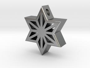 Asa Gara Pendant in Natural Silver