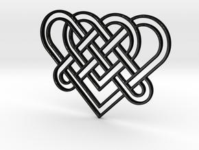 Celtic Heart for Henry Morgan in Matte Black Steel