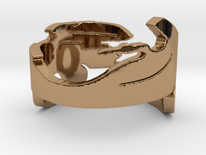 Gold wing 3.1 Ring Size 14 in Polished Brass