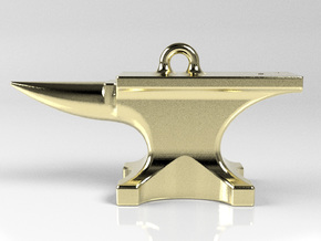 Anvil Pendant in Polished Brass